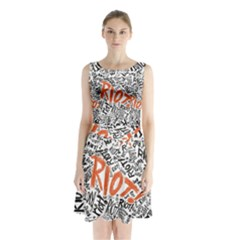 Paramore Is An American Rock Band Sleeveless Chiffon Waist Tie Dress by Onesevenart