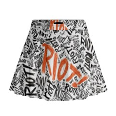 Paramore Is An American Rock Band Mini Flare Skirt by Onesevenart