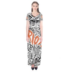 Paramore Is An American Rock Band Short Sleeve Maxi Dress by Onesevenart
