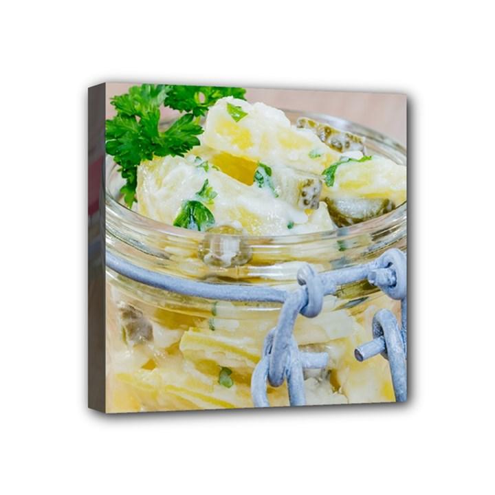 1 Kartoffelsalat Einmachglas 2 Mini Canvas 4  x 4