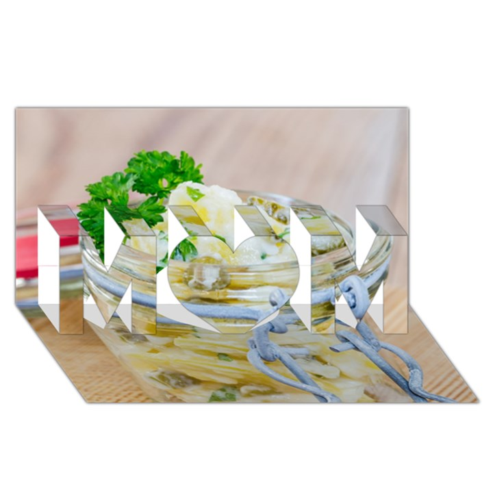 1 Kartoffelsalat Einmachglas 2 MOM 3D Greeting Card (8x4)