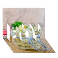 1 Kartoffelsalat Einmachglas 2 Boy 3d Greeting Card (7x5)