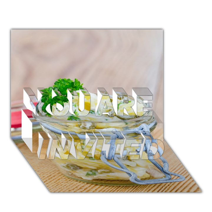 1 Kartoffelsalat Einmachglas 2 YOU ARE INVITED 3D Greeting Card (7x5)