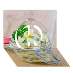 1 Kartoffelsalat Einmachglas 2 Peace Sign 3d Greeting Card (7x5)
