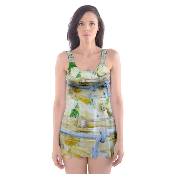 1 Kartoffelsalat Einmachglas 2 Skater Dress Swimsuit