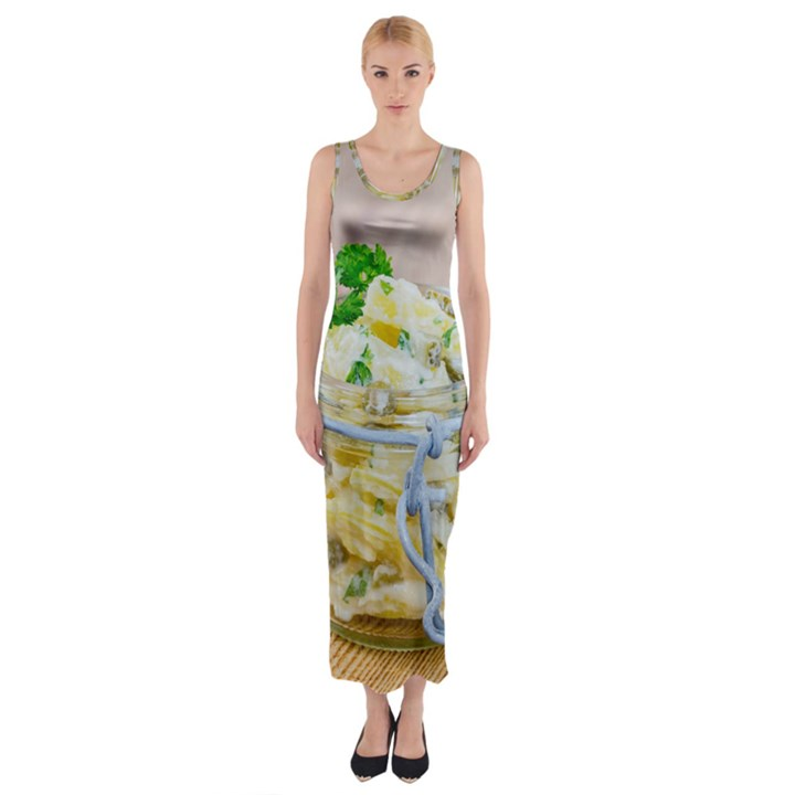 1 Kartoffelsalat Einmachglas 2 Fitted Maxi Dress