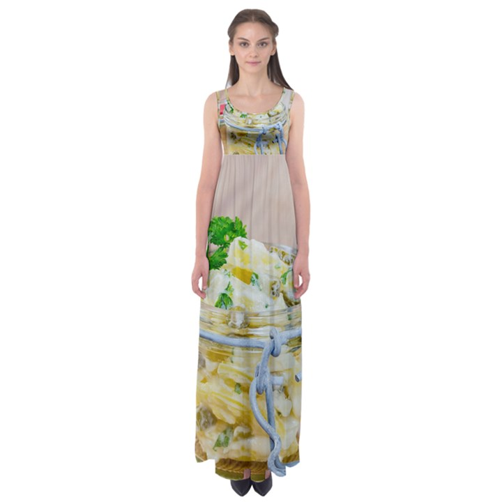 1 Kartoffelsalat Einmachglas 2 Empire Waist Maxi Dress