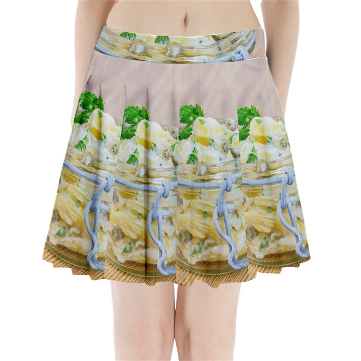 1 Kartoffelsalat Einmachglas 2 Pleated Mini Skirt