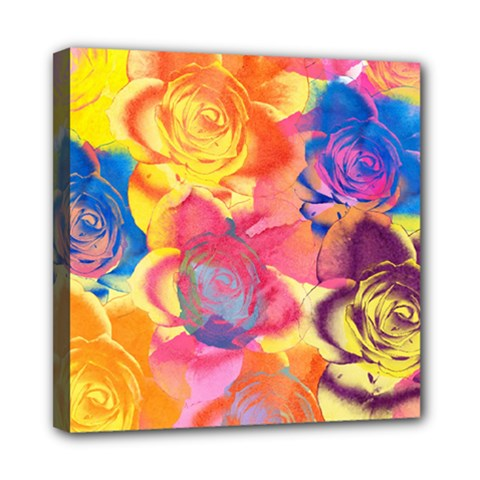 Pop Art Roses Mini Canvas 8  X 8  by DanaeStudio