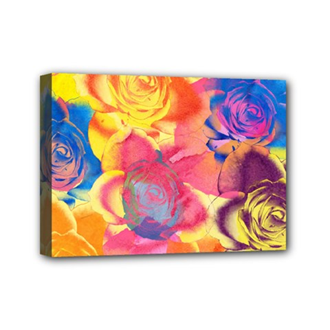 Pop Art Roses Mini Canvas 7  X 5  by DanaeStudio