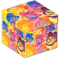 Pop Art Roses Storage Stool 12