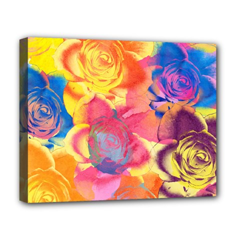 Pop Art Roses Deluxe Canvas 20  X 16   by DanaeStudio
