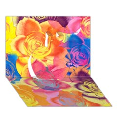 Pop Art Roses Apple 3d Greeting Card (7x5) by DanaeStudio