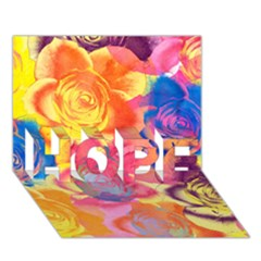 Pop Art Roses Hope 3d Greeting Card (7x5)