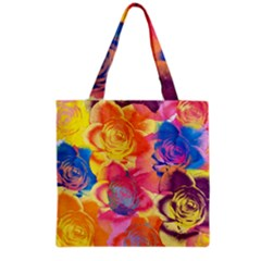 Pop Art Roses Grocery Tote Bag by DanaeStudio