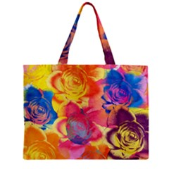 Pop Art Roses Mini Tote Bag by DanaeStudio