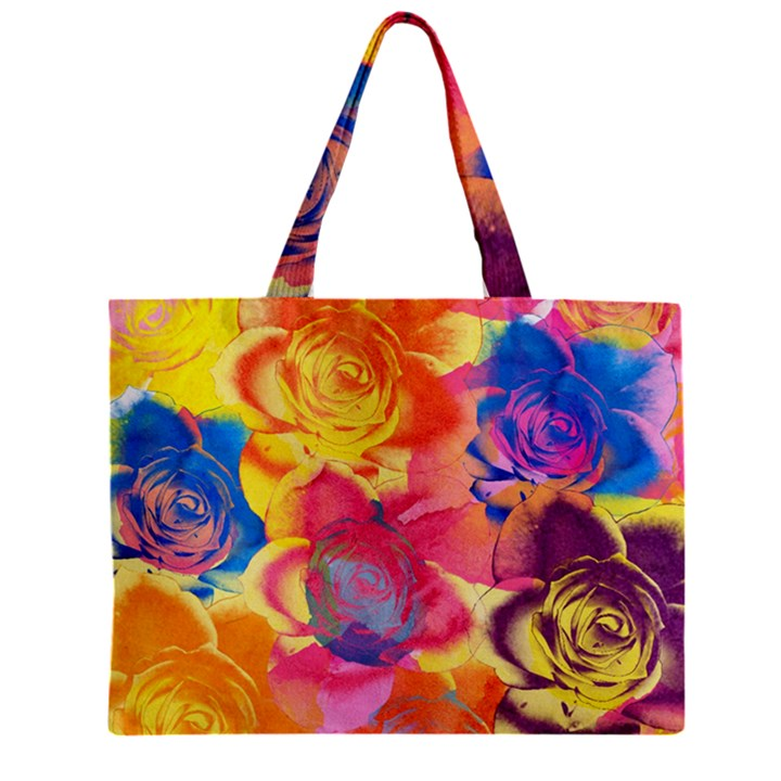 Pop Art Roses Zipper Mini Tote Bag