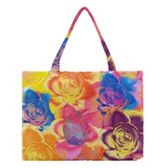 Pop Art Roses Medium Tote Bag by DanaeStudio