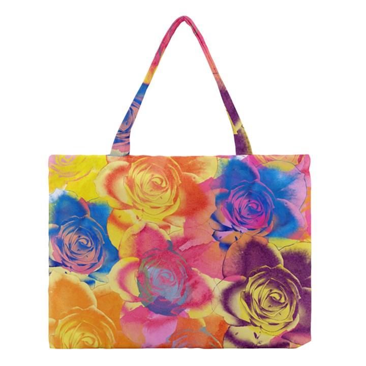 Pop Art Roses Medium Tote Bag