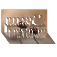 2  Verwelkte Kugeldistel Happy Birthday 3d Greeting Card (8x4) by wsfcow