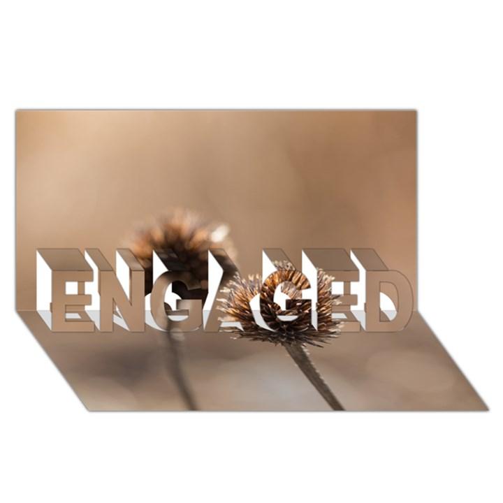 2  Verwelkte Kugeldistel ENGAGED 3D Greeting Card (8x4)