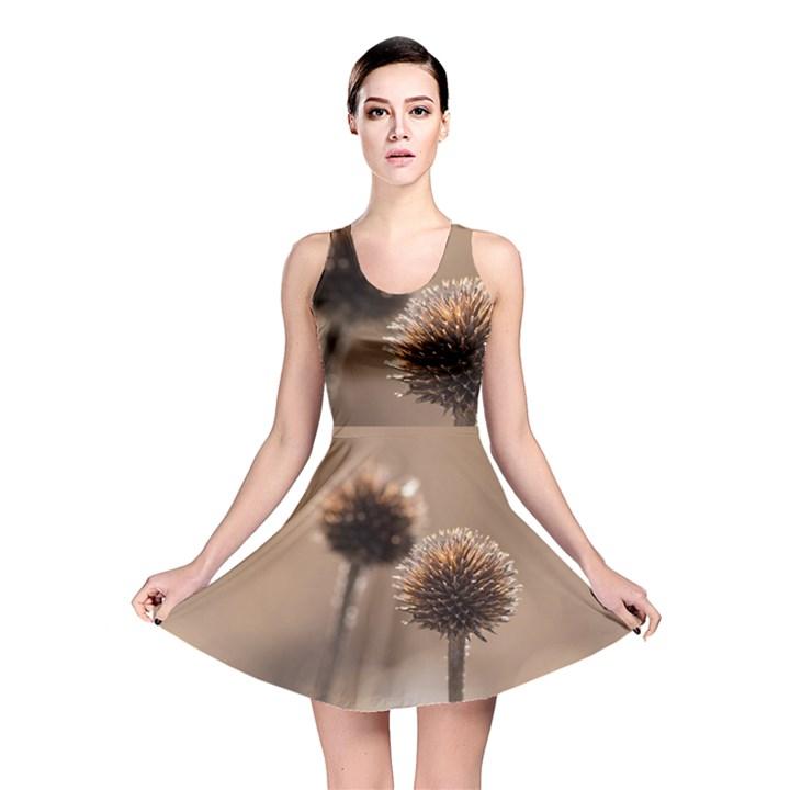 2  Verwelkte Kugeldistel Reversible Skater Dress
