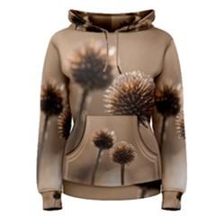2  Verwelkte Kugeldistel Women s Pullover Hoodie