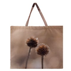 2  Verwelkte Kugeldistel Zipper Large Tote Bag