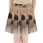 2  Verwelkte Kugeldistel Pleated Mini Skirt