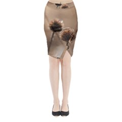 2  Verwelkte Kugeldistel Midi Wrap Pencil Skirt