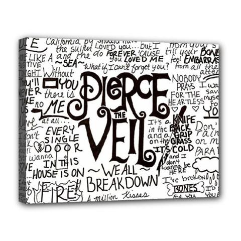 Pierce The Veil Music Band Group Fabric Art Cloth Poster Canvas 14  X 11  by Onesevenart