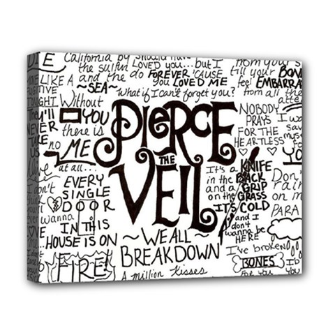 Pierce The Veil Music Band Group Fabric Art Cloth Poster Deluxe Canvas 20  X 16   by Onesevenart