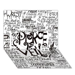 Pierce The Veil Music Band Group Fabric Art Cloth Poster I Love You 3d Greeting Card (7x5) by Onesevenart