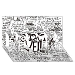 Pierce The Veil Music Band Group Fabric Art Cloth Poster Mom 3d Greeting Card (8x4) by Onesevenart