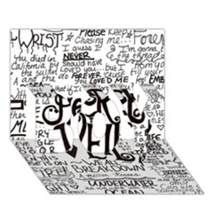 Pierce The Veil Music Band Group Fabric Art Cloth Poster Boy 3d Greeting Card (7x5) by Onesevenart