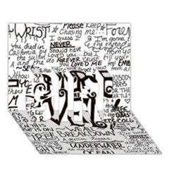 Pierce The Veil Music Band Group Fabric Art Cloth Poster Girl 3d Greeting Card (7x5) by Onesevenart