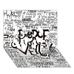 Pierce The Veil Music Band Group Fabric Art Cloth Poster Love 3d Greeting Card (7x5) by Onesevenart