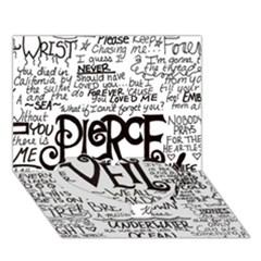 Pierce The Veil Music Band Group Fabric Art Cloth Poster Heart Bottom 3d Greeting Card (7x5) by Onesevenart