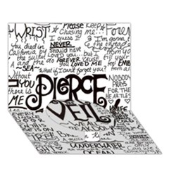 Pierce The Veil Music Band Group Fabric Art Cloth Poster Circle Bottom 3d Greeting Card (7x5) by Onesevenart
