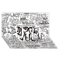 Pierce The Veil Music Band Group Fabric Art Cloth Poster #1 Dad 3d Greeting Card (8x4) by Onesevenart