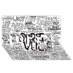 Pierce The Veil Music Band Group Fabric Art Cloth Poster Hugs 3d Greeting Card (8x4) by Onesevenart