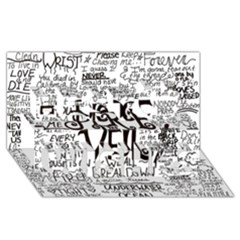 Pierce The Veil Music Band Group Fabric Art Cloth Poster Best Wish 3d Greeting Card (8x4) by Onesevenart