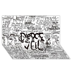 Pierce The Veil Music Band Group Fabric Art Cloth Poster Engaged 3d Greeting Card (8x4) by Onesevenart