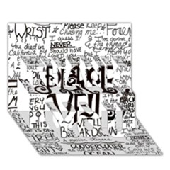 Pierce The Veil Music Band Group Fabric Art Cloth Poster Thank You 3d Greeting Card (7x5) by Onesevenart