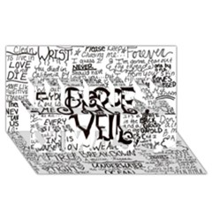 Pierce The Veil Music Band Group Fabric Art Cloth Poster Merry Xmas 3d Greeting Card (8x4) by Onesevenart