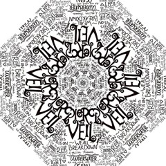 Pierce The Veil Music Band Group Fabric Art Cloth Poster Hook Handle Umbrellas (small) by Onesevenart