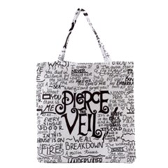 Pierce The Veil Music Band Group Fabric Art Cloth Poster Grocery Tote Bag by Onesevenart