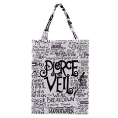Pierce The Veil Music Band Group Fabric Art Cloth Poster Classic Tote Bag by Onesevenart