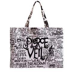 Pierce The Veil Music Band Group Fabric Art Cloth Poster Zipper Mini Tote Bag by Onesevenart