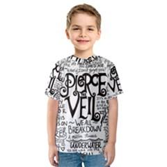 Pierce The Veil Music Band Group Fabric Art Cloth Poster Kids  Sport Mesh Tee by Onesevenart